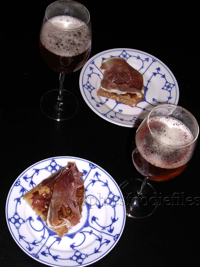 Tasty tapas with a lovely beer!
