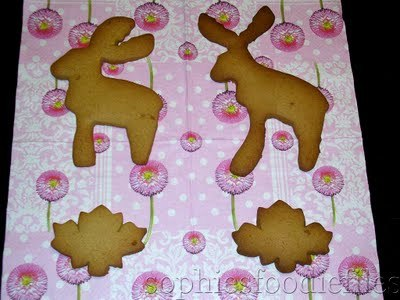 Canadian moose & Canadian maple leaf speculaas cookies