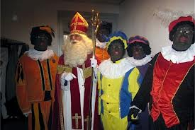 Sinterklaas & his black helpers