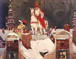 Sinterklaas on its white horse