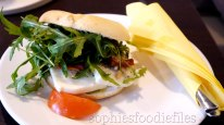 A lovely Vegetarian Giant Giro bagel! Yum!
