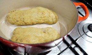 2  uncooked seitan loaves