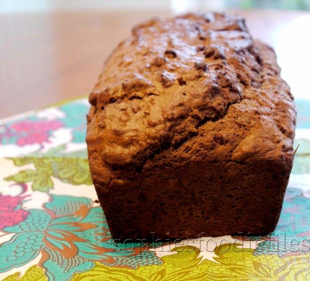 A stunning vegan carob spelt flour banana bread!A great & tasty food gift too! :)