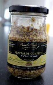 Coarse whole grain mustard, organic too!