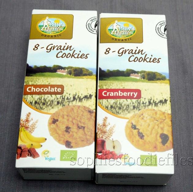 Organic vegan 8 grain cranberry cookies & organic vegan 8 grain chocolate cookies!