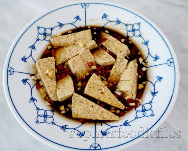 The spicy tofu marinade!