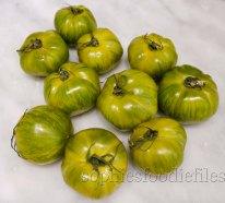 Green Heirloom zebra tomatoes!