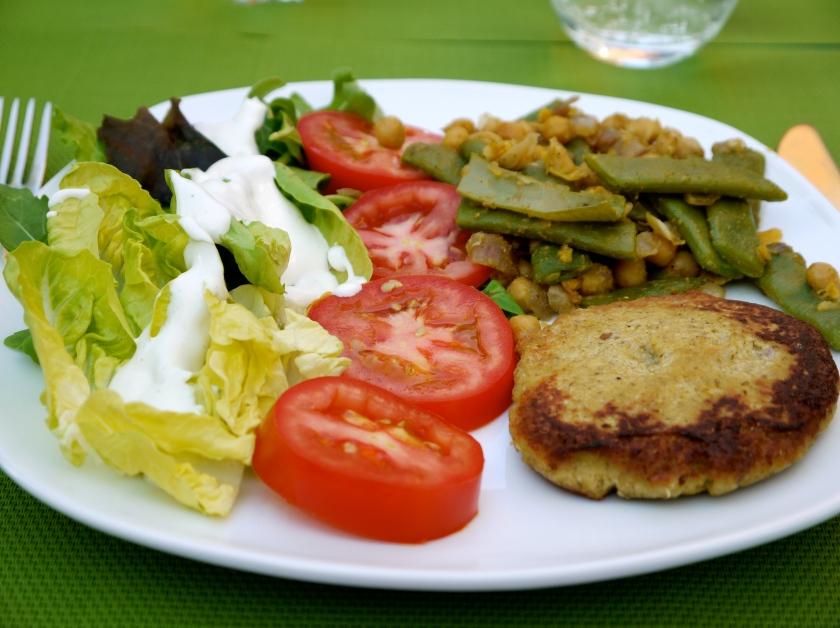 A lovely vegetarian spiced dinner! MMM!