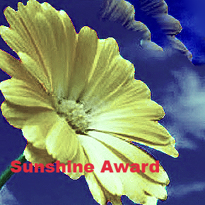 The Sunshine blog award!