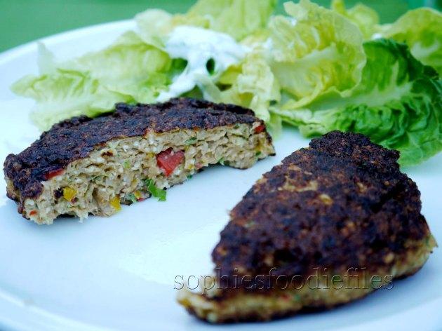 Fabulous Asian inspired salmon-oat-burgers!