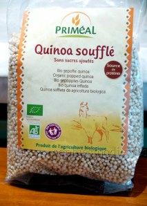 Organic unsweetened quinoa puffs!