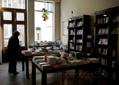 Even more books, in the front of the Bookcafé!
