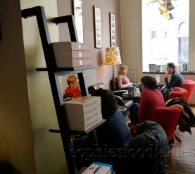 More books & cosy couches in the front of the bookcafé!