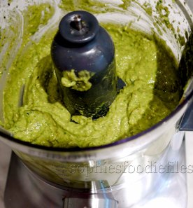 The lovely avocado pesto!
