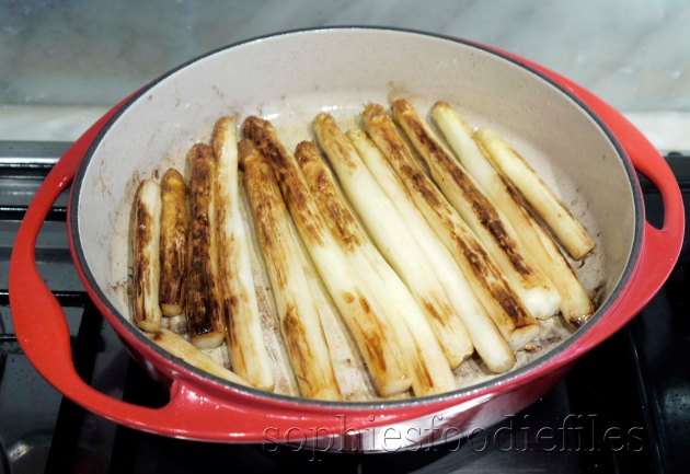 Oil fried white asparagus!