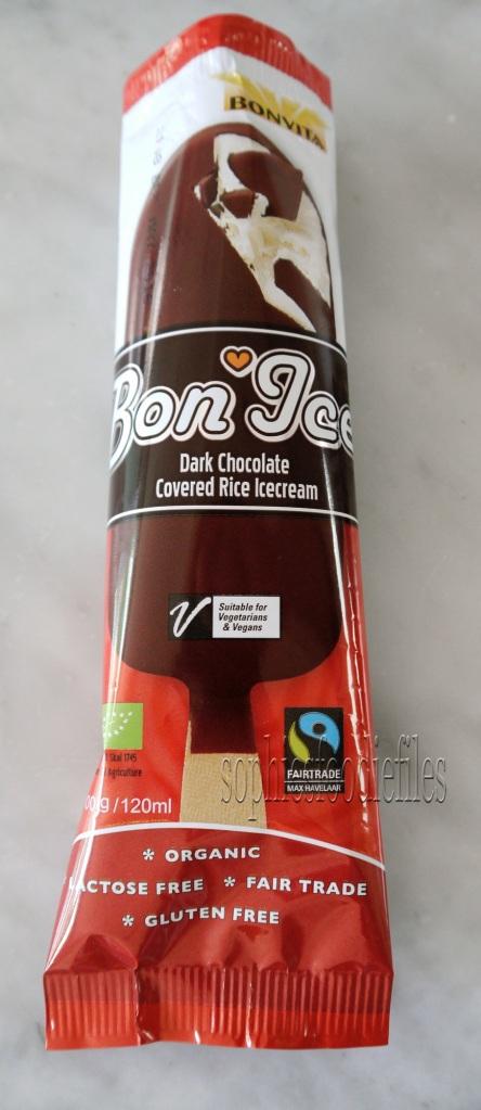 Rice Ice-Cream covered in Dark chocolate! Vegan, Gluten-Free! :)