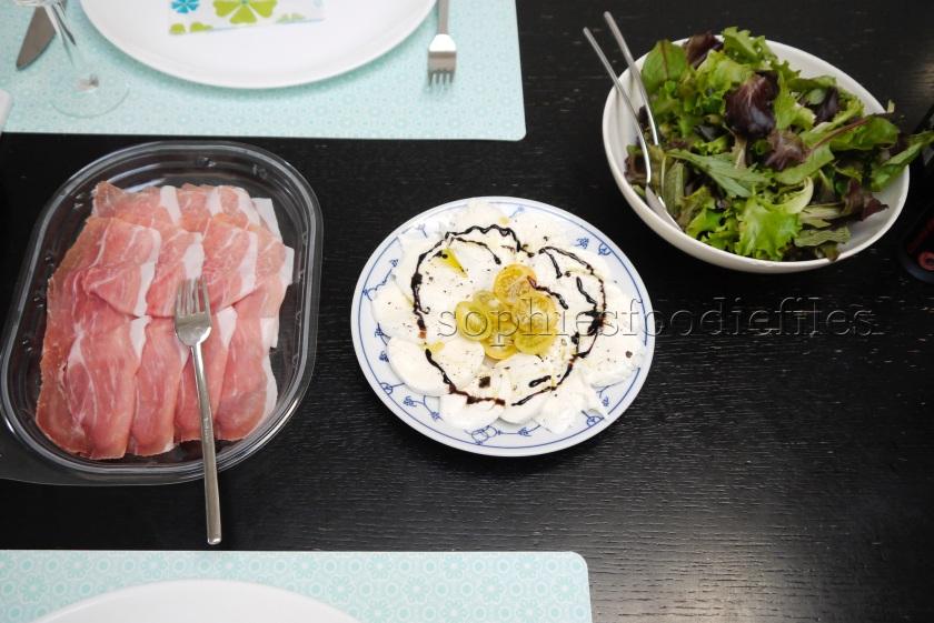 San Daniele Ham, Buffalo M. & young salad leaves!