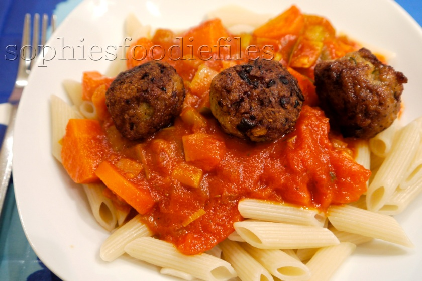 The spiced chicken meatballs are dairy-free, egg-free & gluten-free too!