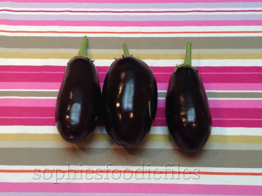 3 lovely aubergines