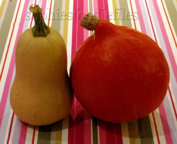 2 more pumpkins! The 1st butternut & the 2nd Uchiki Kuri! :)