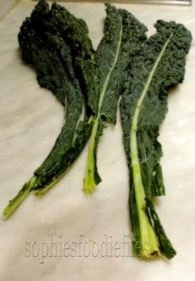 More black Tuscany Kale leaves