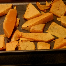 Roasted pumpkin pieces!