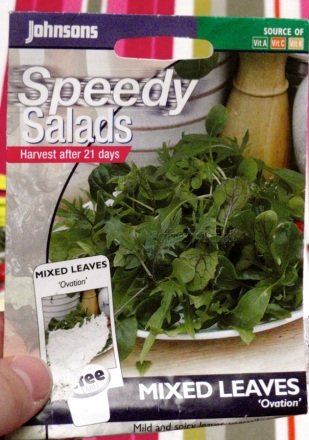 Cut away salad leaves