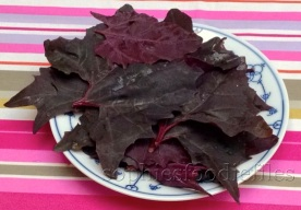 red orach leaves
