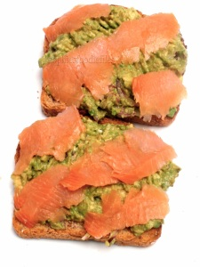 Smoked salmon avocado toasts!