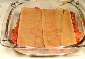 2 spelt lasagna sheets + 1/2!