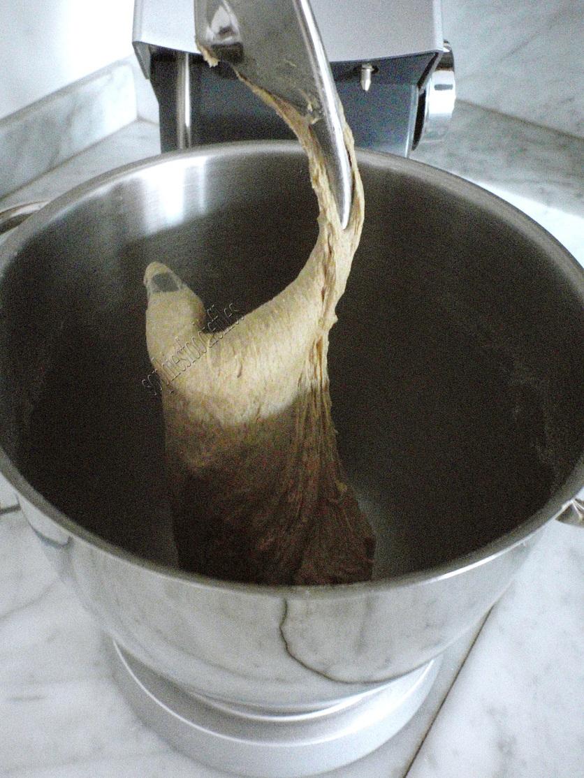 Kneading the dough!