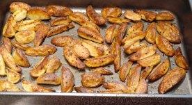 Crispy roasted new potatoes