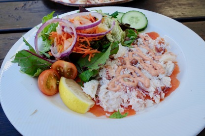 A seafood platter with smoked salmon & crab!