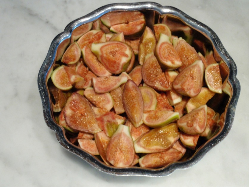 Fresh quartered figs