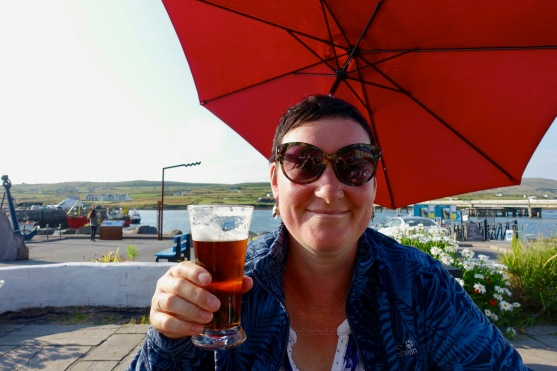 Me, ejoying a red ale!